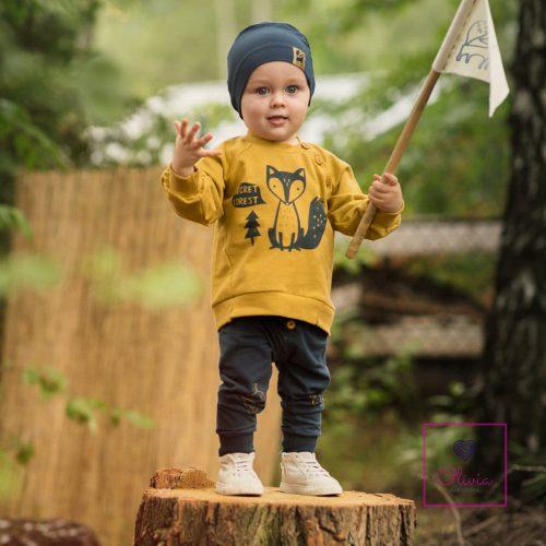 SECRET FOREST22 Hosszú ujjú pamut pulcsi